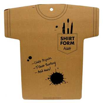 Adult Cardboard Shirt Form